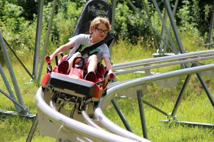 sky flyer is most exciting mountain coaster near buffalo