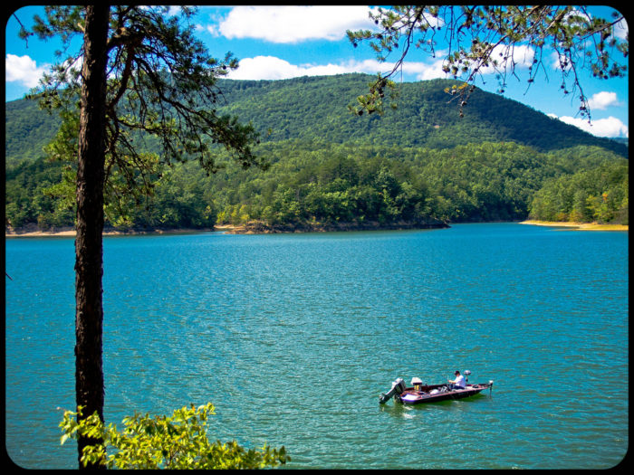 Carvins cove in virginia has beautifully deep blue water for Carvins cove fishing