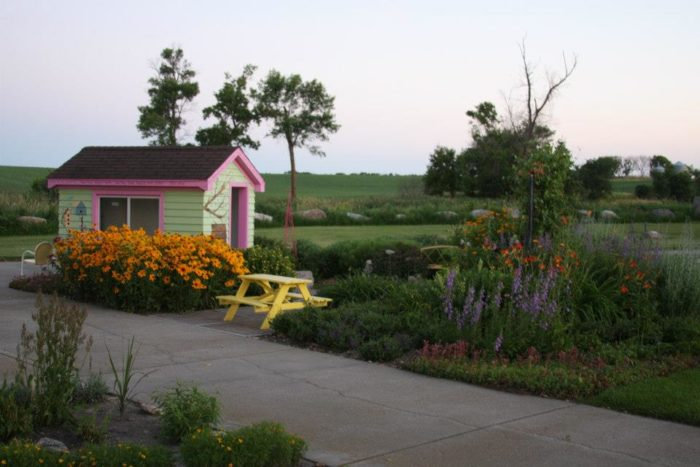 The Rainbow Garden Is A Pleasant And Delightful Place On The Edge Of  Mayville, North Dakota.