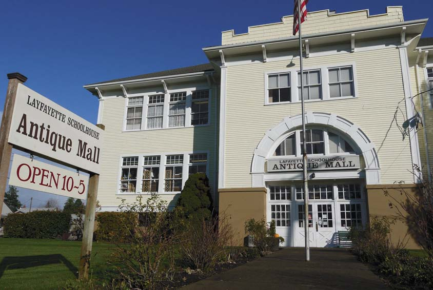 The Lafayette Schoolhouse Antique Mall In Oregon