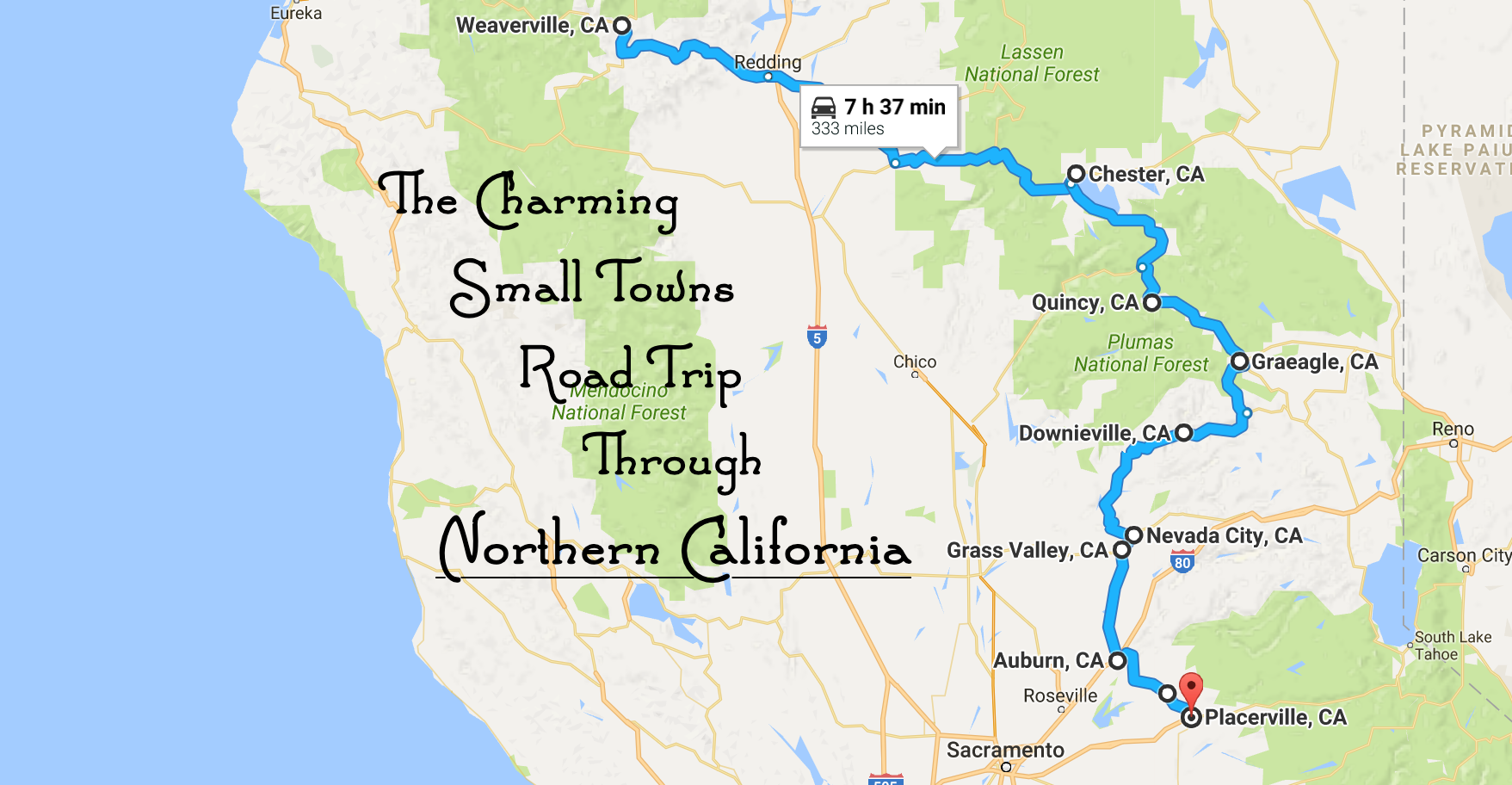 Take This Road Trip To See 10 Of The Greatest Small Towns In ... Charming California Map on