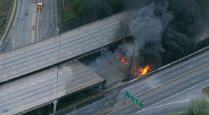 Bridge Collapses During Rush Hour In Georgia, Massive Fire And Commuter Chaos Ensue
