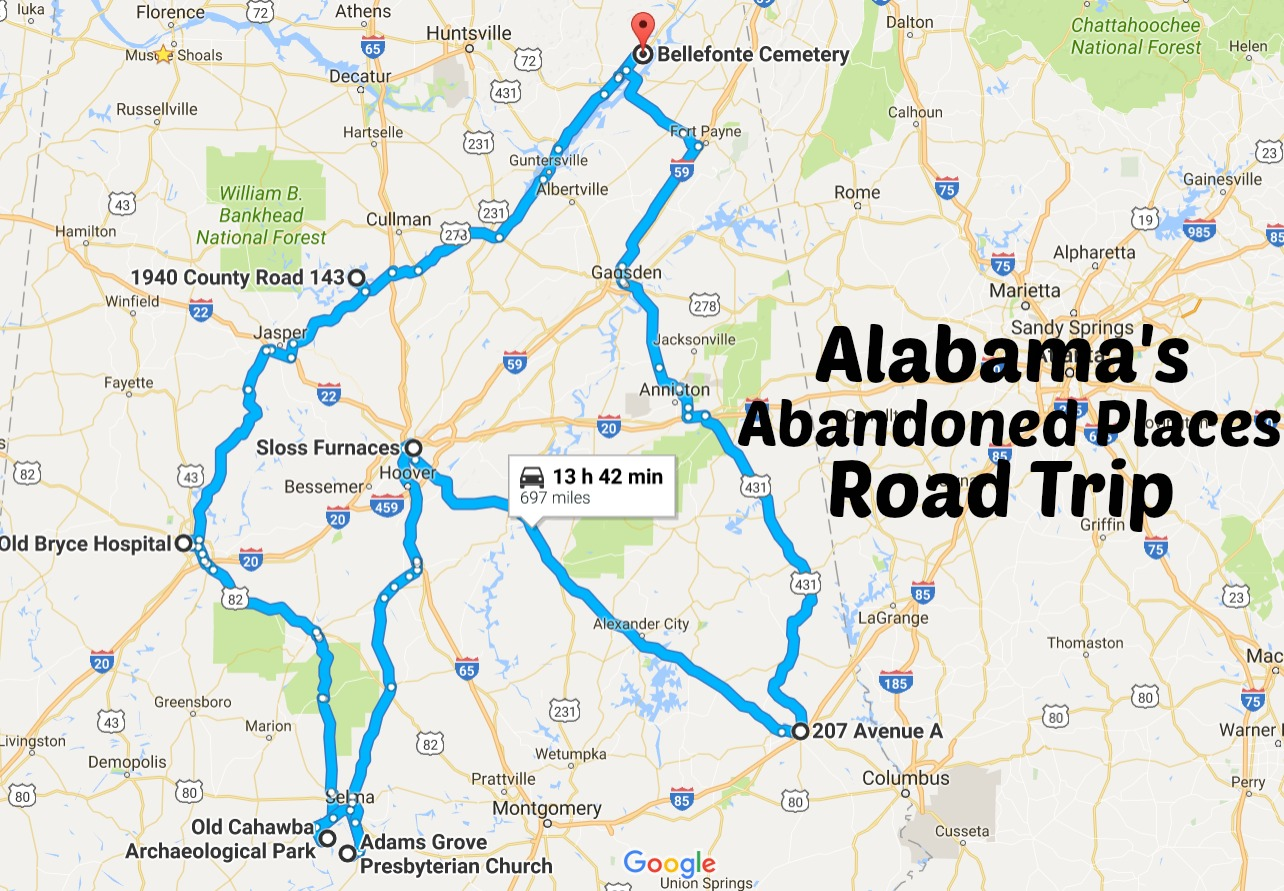 Take This Road Trip To Alabama S Most Abandoned Places