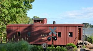 You'll Never Forget An Overnight In This Lakeside Caboose In South Carolina