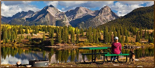 This might just be the most beautiful campground in all of for Camping and fishing in colorado