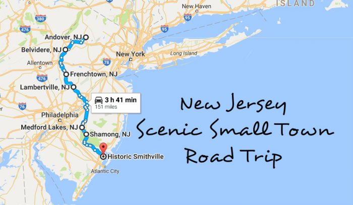 Take This Road Trip Through New Jerseys Most Picturesque Small - Nj map with towns