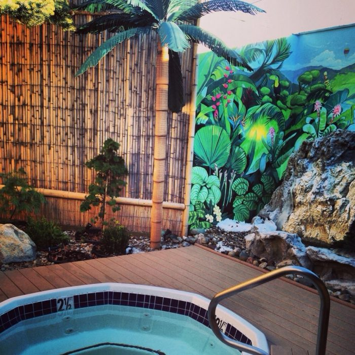 Other Hot Tub Garden Designs Include A Rainforest Area Complete With A Few  Faux Palm Trees And A Grecian Getaway U2014 Talk About A Unique Experience!