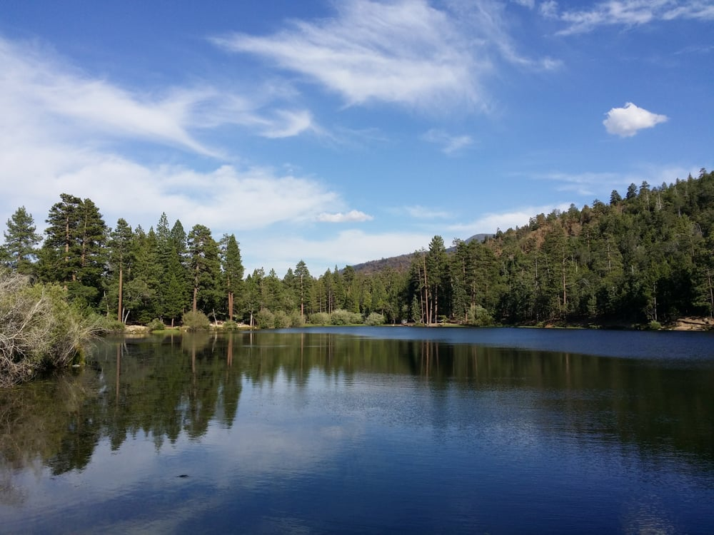 Jenks lake in southern california is a peaceful place to for Freshwater fishing in southern california