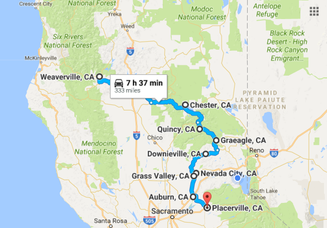 Take This Road Trip To See Of The Greatest Small Towns In - Northern california cities map
