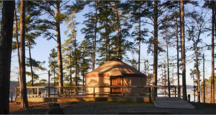 Degray Lake Yurts The Campground In Arkansas That S Pure