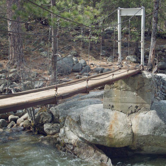 Yosemite S Terrifying Swinging Bridge Near Northern