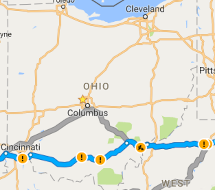 The Loneliest Road In Ohio And America US Route - Map of us rt 50