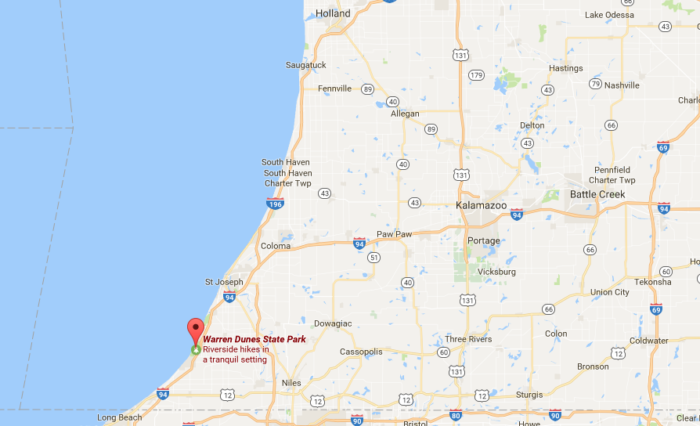 Warren Dunes State Park In Michigan Has Most Pristine Sand The: Warren Dunes State Park Trail Map At Usa Maps
