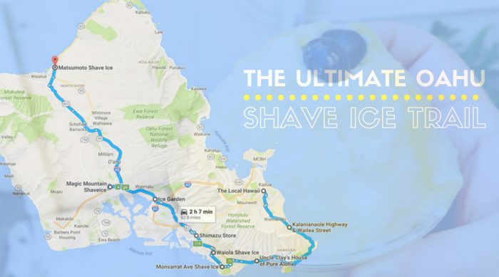 The Mouthwatering Shave Ice Trail Across Oahu