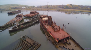 This Eerie Footage Of A Boat Graveyard Along New Jersey's Coast Will Mesmerize You