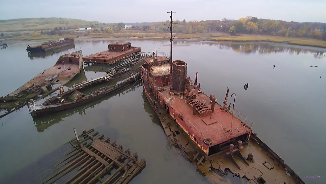 This Eerie Footage Of A Boat Graveyard Along New Jersey S Coast Will Mesmerize You