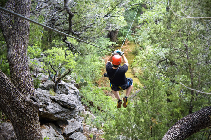 Youu0027ll soar through the canopy of ancient cypress trees some over 100 feet tall. & Cypress Valley Canopy Tours has The Best Zipline In Texas