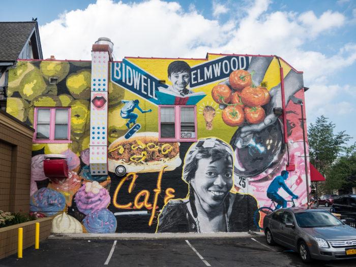 Elmwood village in buffalo has tons to do for Bufflon revetement mural