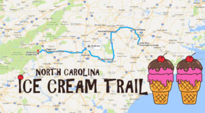 This Mouthwatering Ice Cream Trail In North Carolina Is All You've Ever Dreamed Of And More