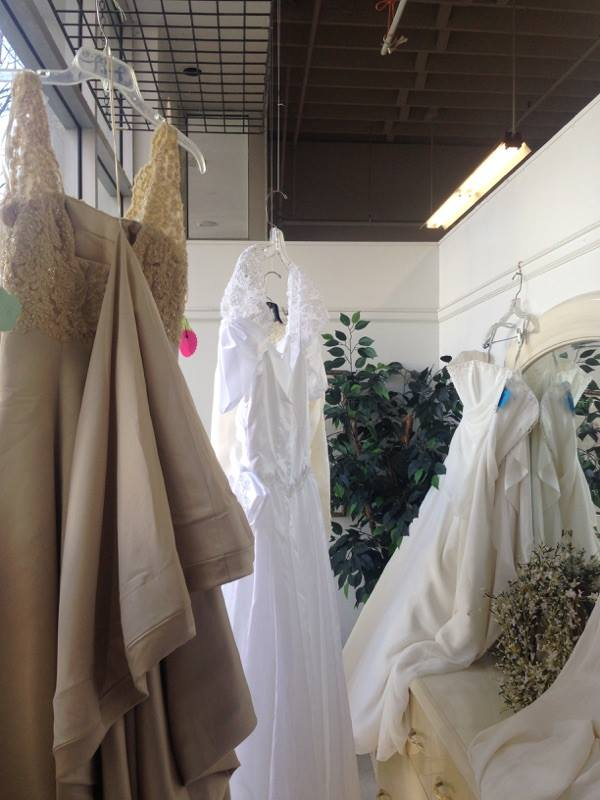 there are also a selection of wedding dresses william temple house and thrift store