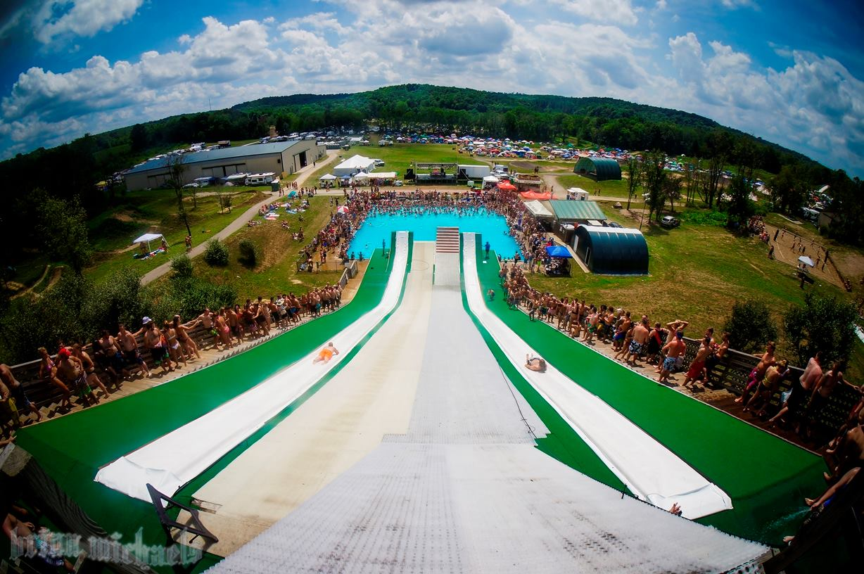 The Most Epic Waterslide In Butler Ohio Slip N Fly