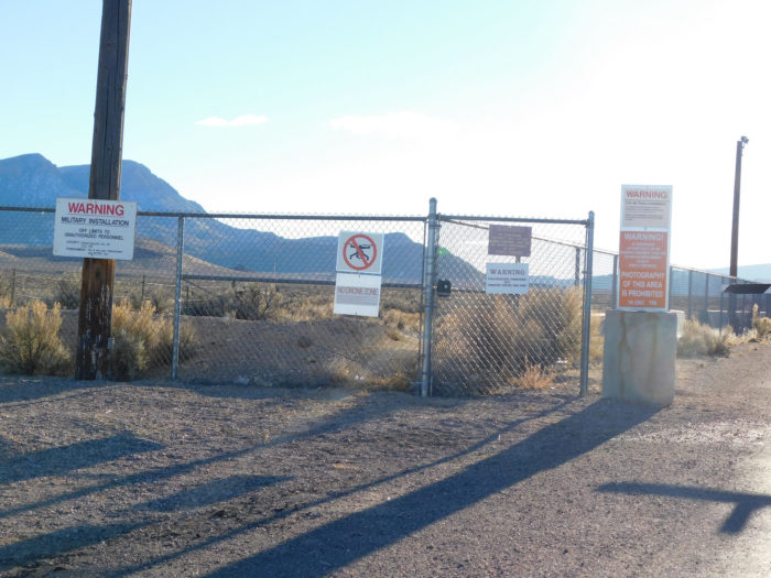 pictured is another area 51 security gate they really mean business