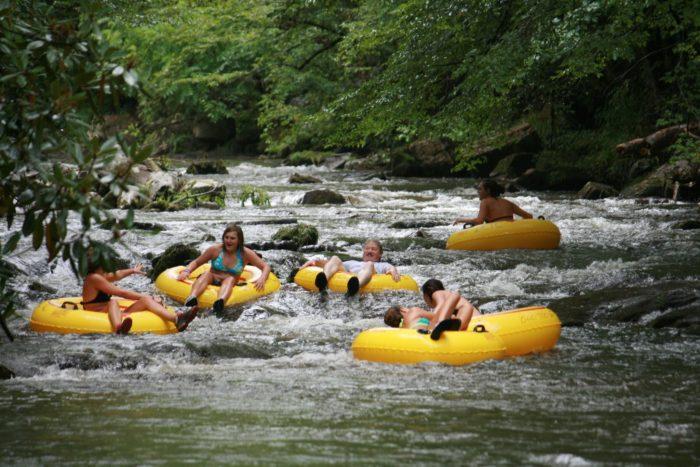 river tubing art natural lazy river tubing on deep creek north carolina