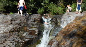 A Ride Down This Epic Natural Waterslide Near Portland Will Make Your Summer Complete