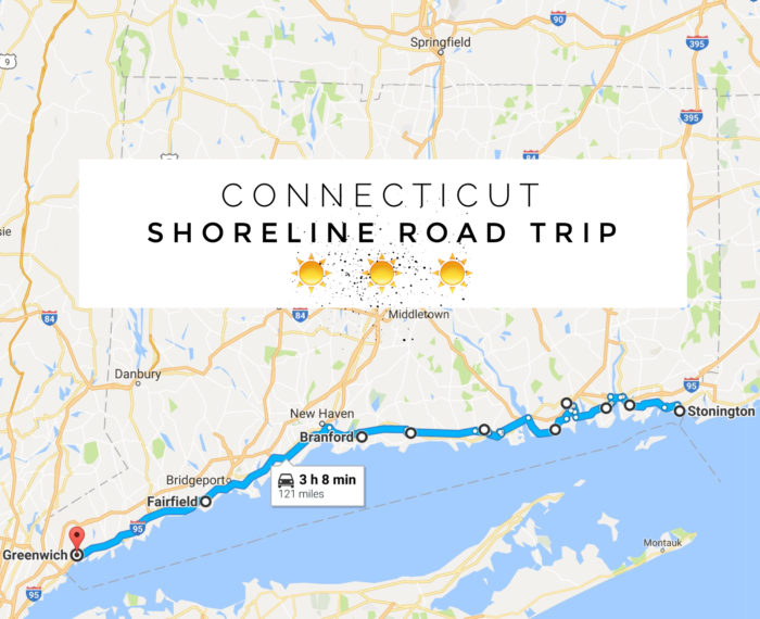 Shoreline Road Trip In Connecticut Shows You Coastal Towns - Ct road map