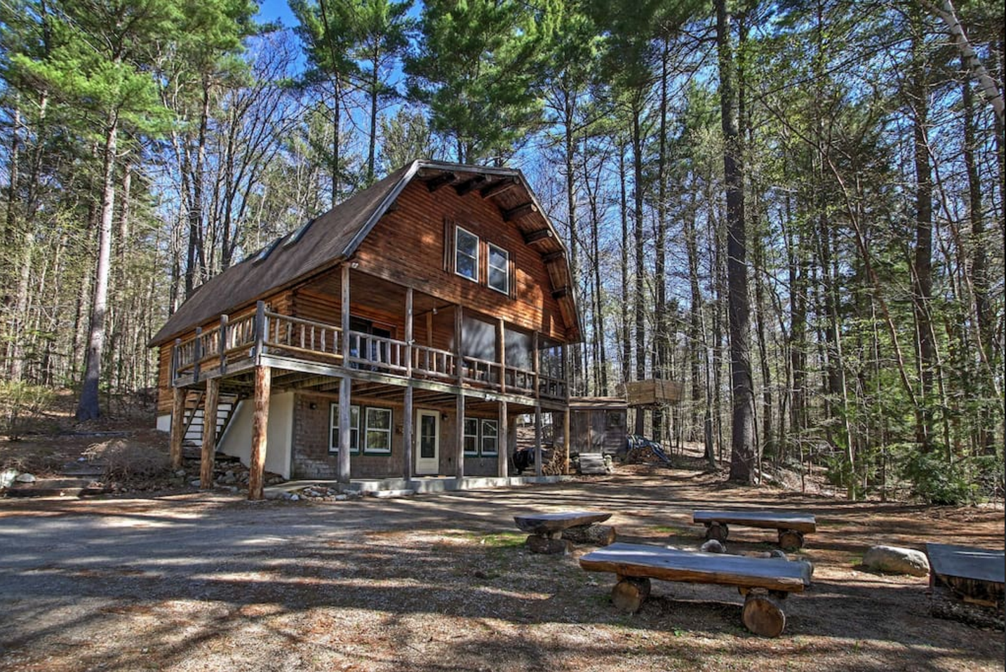 Rent these 7 new hampshire cabins for an unforgettable stay for Lake cabins for rent in massachusetts