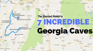 This Map Shows The Shortest Route To 7 Of Georgia's Most Incredible Caves