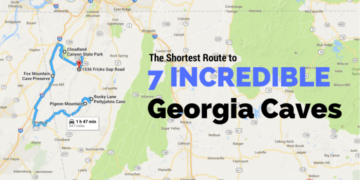This Map Shows The Shortest Route To 7 Of Georgia\'s Most Incredible ...