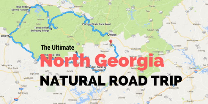 The Ultimate North Georgia Road Trip Is A Perfect Natural Adventure - Georgia road map