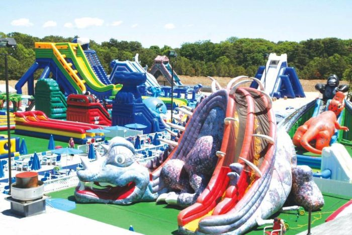 Inflatable Water Slide Park Cape Cod