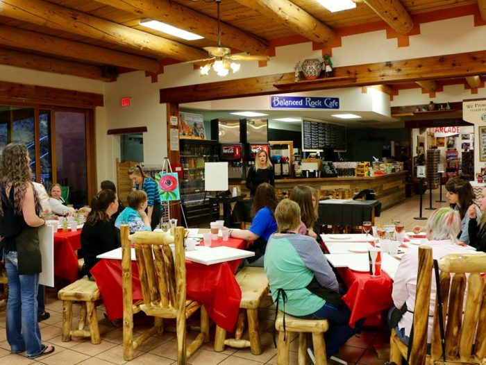 the garden of the gods trading post is home to not only a store but also a cafe and a number of special events like the pictured paint party - Garden Of The Gods Trading Post