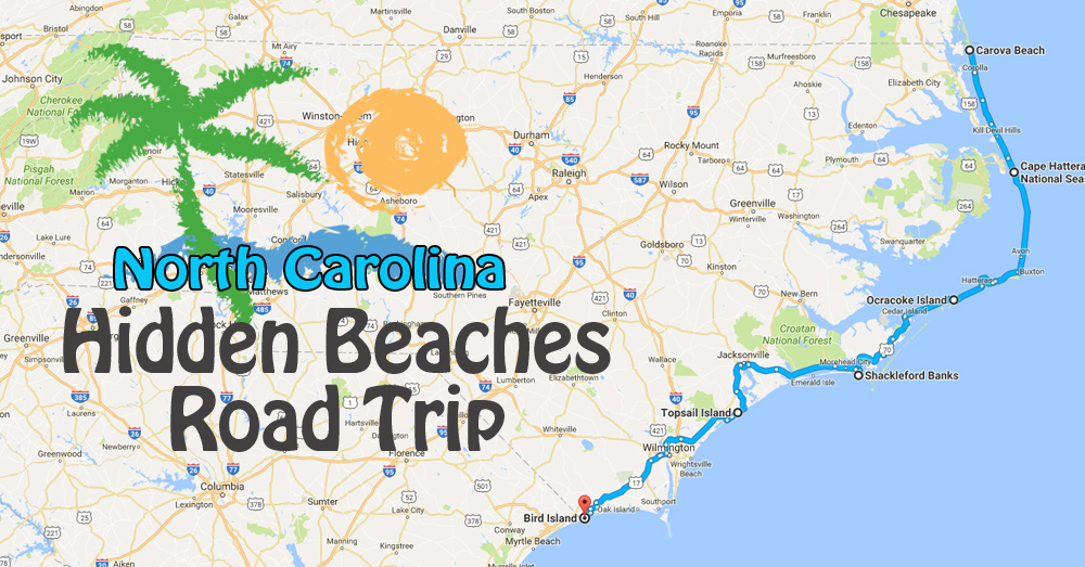 Hidden Beaches Road Trip To The Best Beaches In North Carolina on