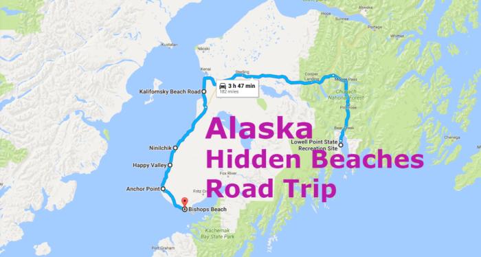 The Hidden Beaches Road Trip That Will Show You Alaska Like Never - Google maps alaska