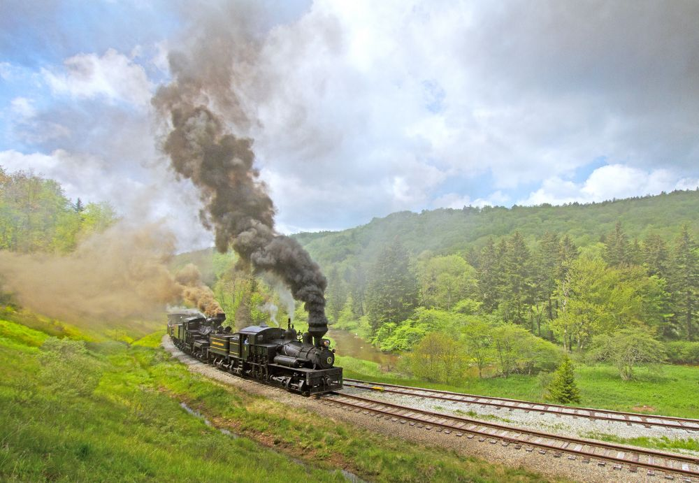 Cass Scenic Railroad In West Virginia Has The Most