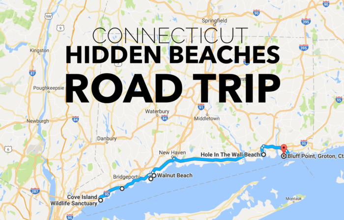 Hidden Beaches Road Trip In Connecticut Is Perfect For Summer - Road map of ct