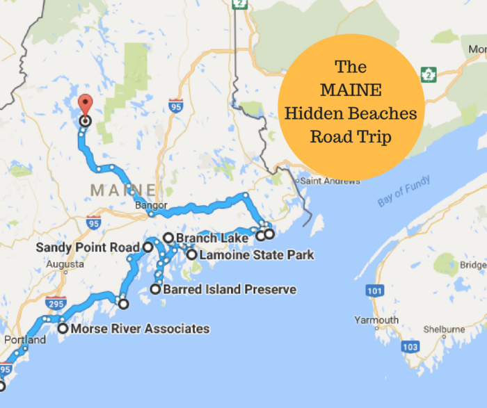 The Hidden Beaches Road Trip That Will Show You Maine Like Never - Google maps maine