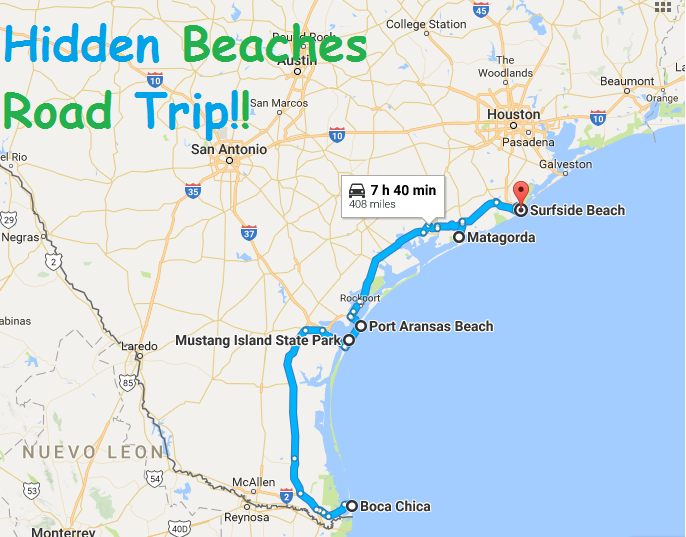 Texas Beach Map | The best beaches in the world