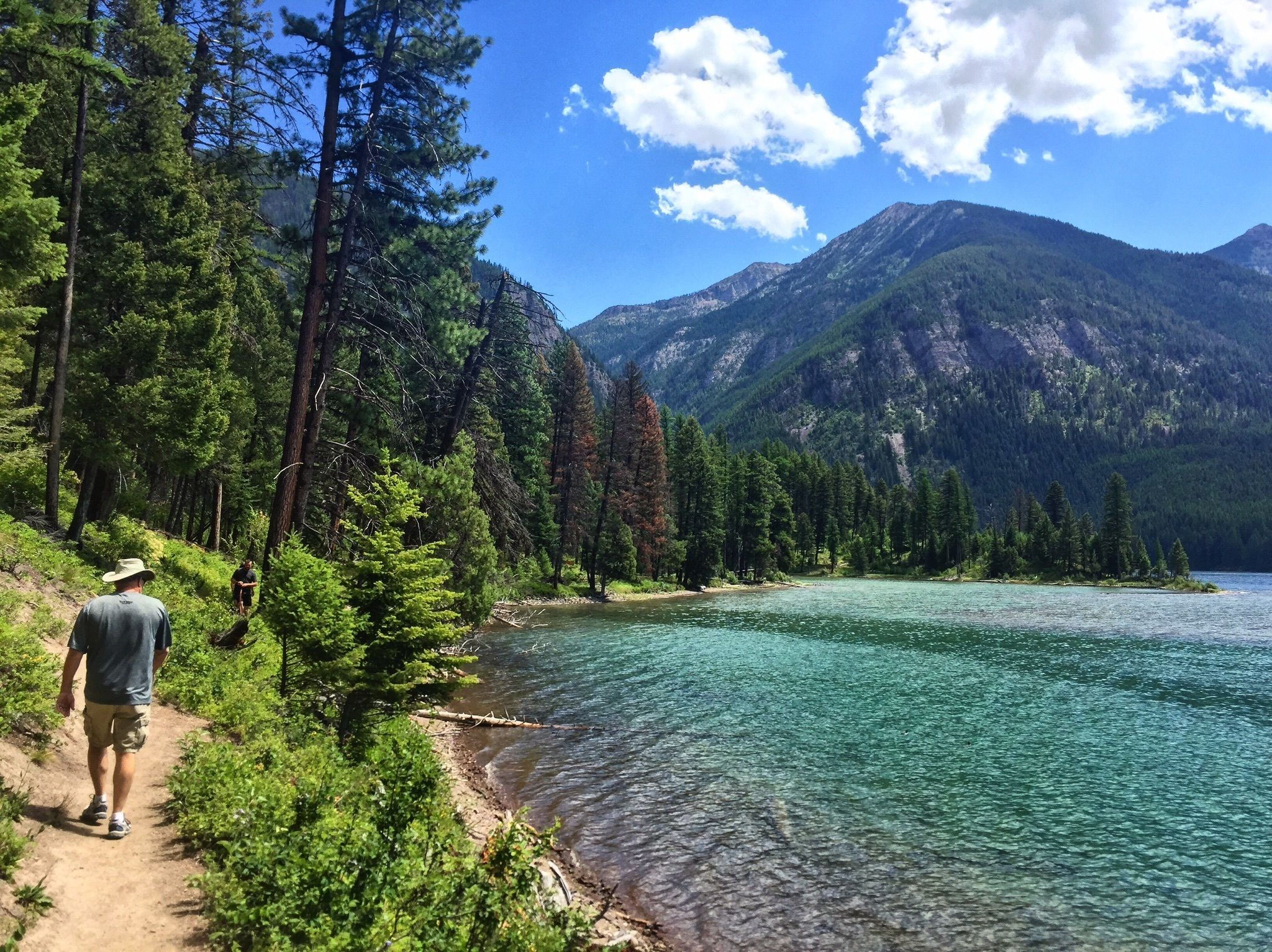 holland lake and falls trail in montana is a beautiful hike