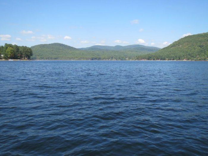 Great Sacandaga Lake X on Lake George New York Map