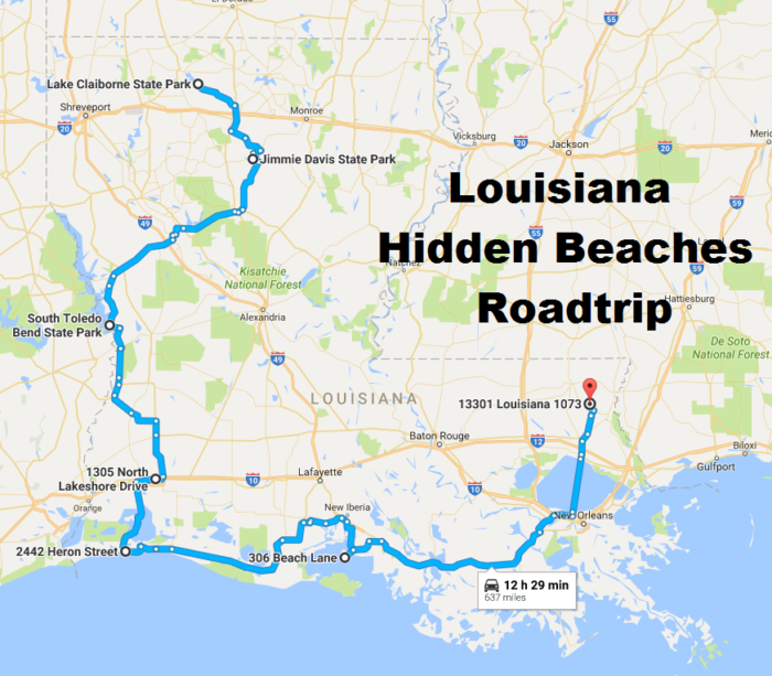 The Hidden Beaches Road Trip That Will Show You Louisiana Like - North louisiana map