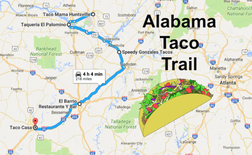 The Best Most Delicious Taco Trail Through Alabama