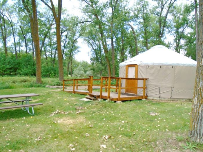 The Campground At Cross Ranch State Park In North Dakota