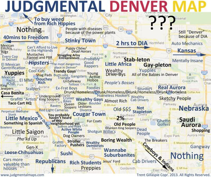 This Politically Incorrect Map Of Denver Is Guaranteed To Make You ...