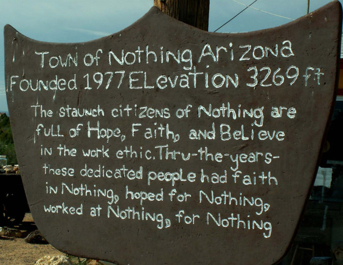 Nothing Arizona Is A Ghost Town In The Middle Of Nowhere