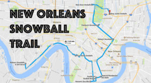 There's Nothing Better Than This Mouthwatering Snowball Trail In New Orleans