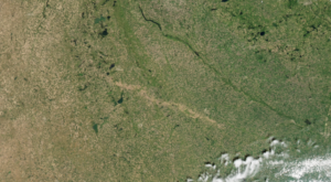 You Can See This 60-Mile Scar Across South Dakota From Space